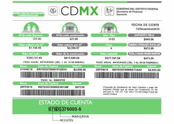 Imprime tu recibo de Predial en Ciudad de Mexico